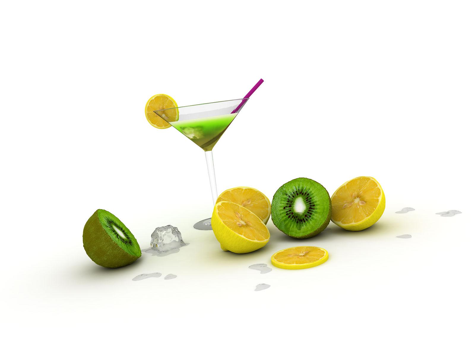 Kiwi lemon cocktail for Cocktail kiwi