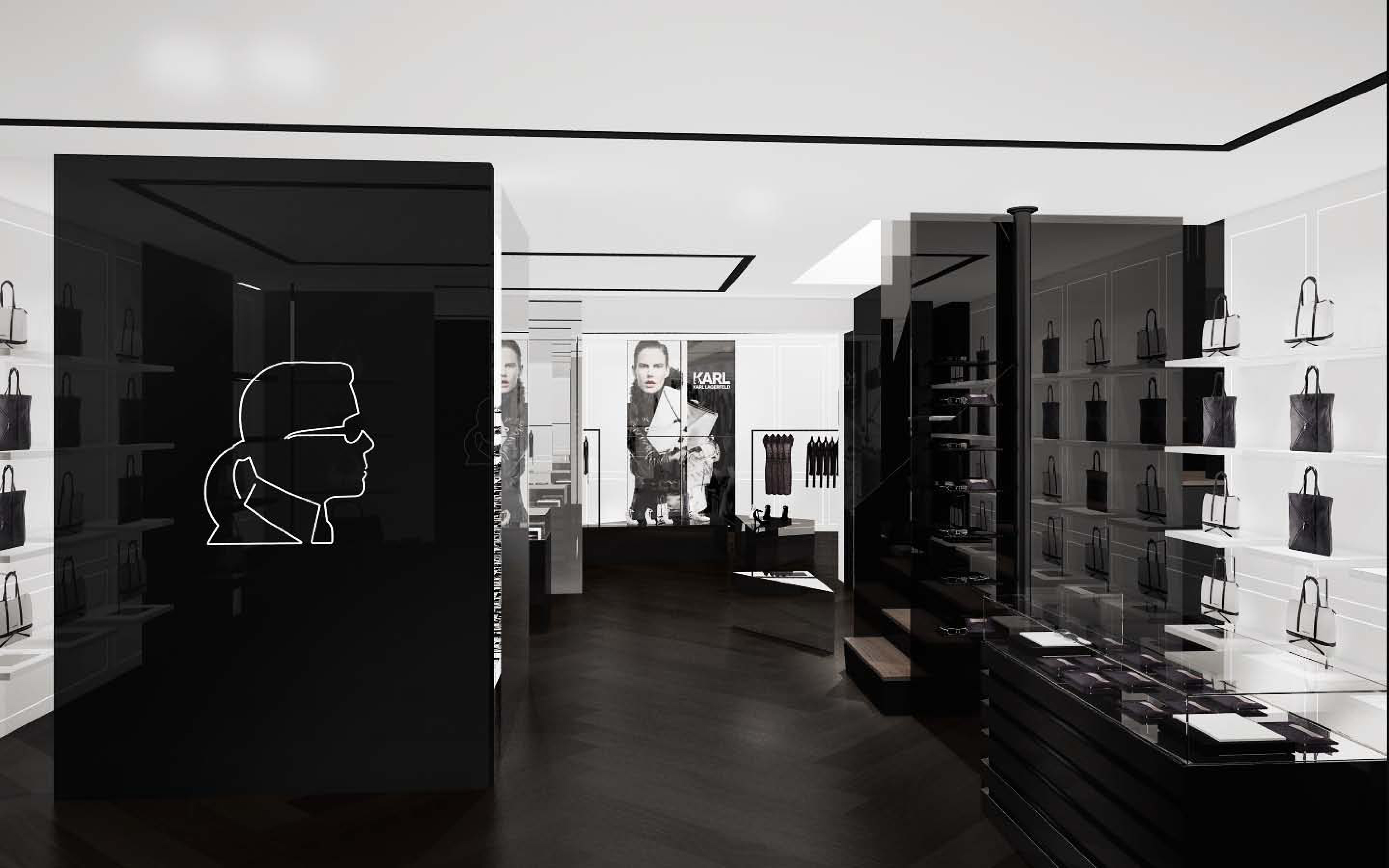 karl lagerfeld paris ss13 pesentation concept store opening february 2013. Black Bedroom Furniture Sets. Home Design Ideas