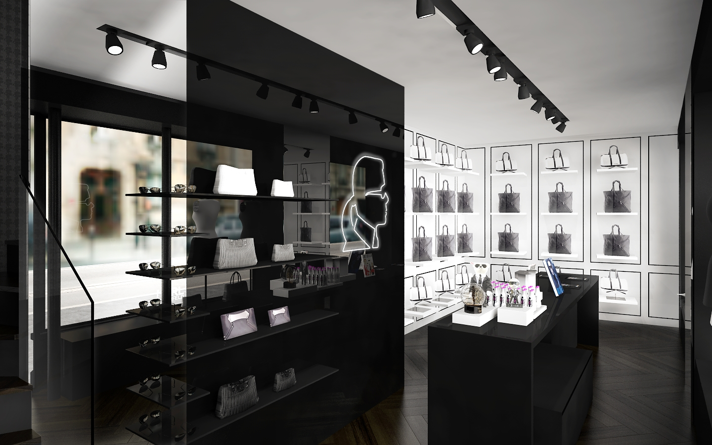 karl lagerfeld store opening in le marais paris. Black Bedroom Furniture Sets. Home Design Ideas