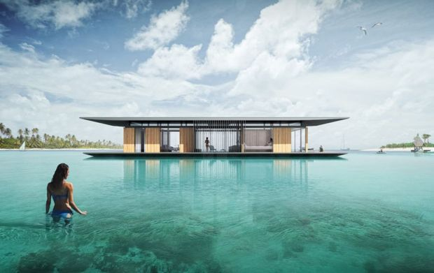 Luxurious-floating-house-with-a-transportable-base