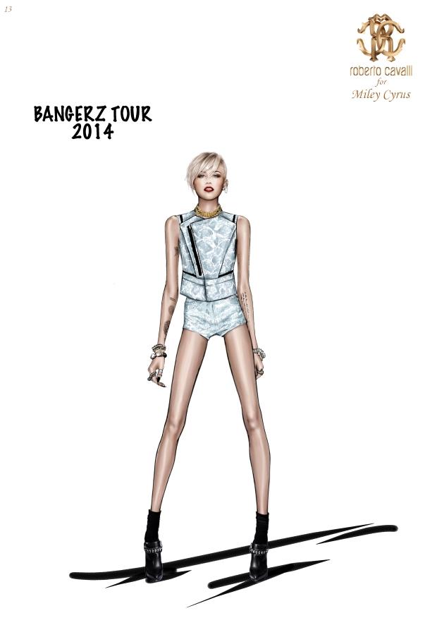 Miley Cyrus in Roberto Cavalli @ The Bangerz World Tour 3 bis