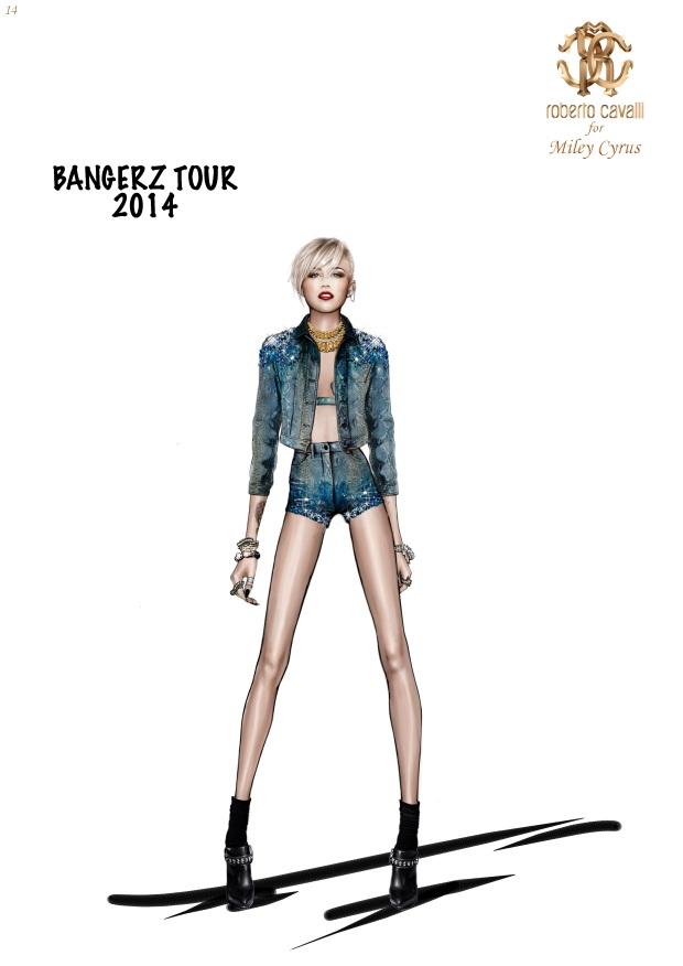 Miley Cyrus in Roberto Cavalli @ The Bangerz World Tour 5